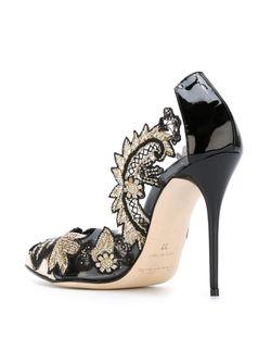 Туфли С Вышивкой Alyssa Oscar de la Renta                                                                                                              чёрный цвет