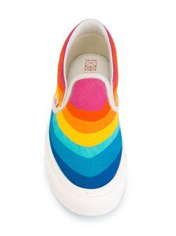 Кеды Слипон С Принтом Радуги Vans                                                                                                              многоцветный цвет
