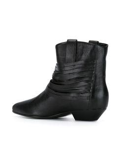 Ковбойские Сапоги С Ремешками Saint Laurent                                                                                                              чёрный цвет