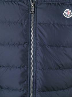 Пуховый Жилет С Капюшоном Moncler                                                                                                              синий цвет