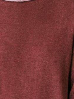 Свитер С Вырезом-Лодочкой Roberto Collina                                                                                                              красный цвет