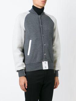 Классическая Университетская Куртка Sacai                                                                                                              серый цвет