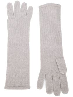Knitted Long Gloves RYAN ROCHE                                                                                                              серый цвет