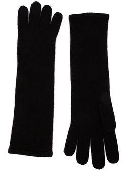 Удлиненные Трикотажные Перчатки RYAN ROCHE                                                                                                              чёрный цвет