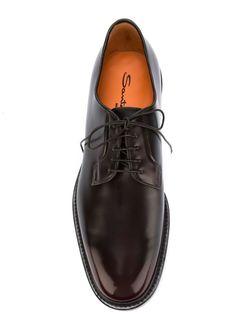 Классические Туфли-Дерби Santoni                                                                                                              красный цвет