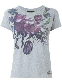 Футболка С Цветочным Принтом Vivienne Westwood Anglomania                                                                                                              серый цвет
