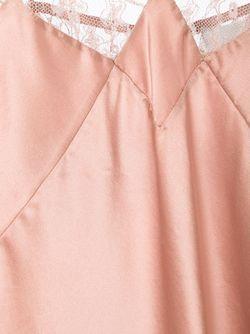 Топ На Бретельках С Кружевной Отделкой Fleur du Mal                                                                                                              розовый цвет