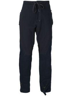 Mixed Fabric Trousers GREG LAUREN                                                                                                              синий цвет