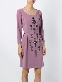 Декорированное Платье Alberta Ferretti                                                                                                              розовый цвет