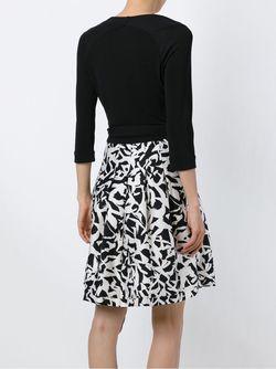Платье С Запахом И Абстрактным Принтом Diane Von Furstenberg                                                                                                              черный цвет
