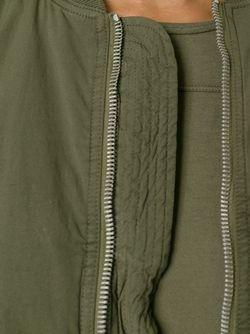 Асимметричное Пальто RICK OWENS DRKSHDW                                                                                                              зелёный цвет