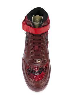 Хай-Топы Rockrunner С Камуфляжным Принтом Valentino Garavani                                                                                                              красный цвет