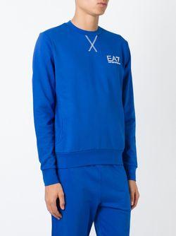 Толстовка С Круглым Вырезом EA7 EMPORIO ARMANI                                                                                                              синий цвет