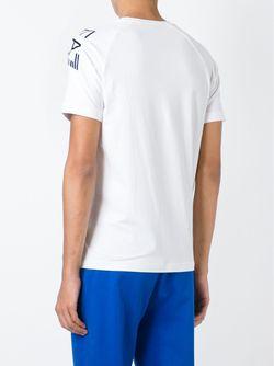 Футболка С Принтом Логотипа EA7 EMPORIO ARMANI                                                                                                              белый цвет