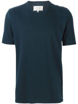 Футболка С Разрезами На Плечах Maison Margiela                                                                                                              синий цвет