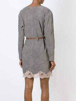 Платье С Кружевной Отделкой Chloe                                                                                                              серый цвет