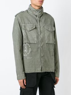 Funnel Neck Military Jacket OFF-WHITE                                                                                                              зелёный цвет