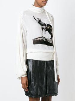 Блузка С Волоком И Накладным Шарфом J.W. Anderson                                                                                                              Nude & Neutrals цвет