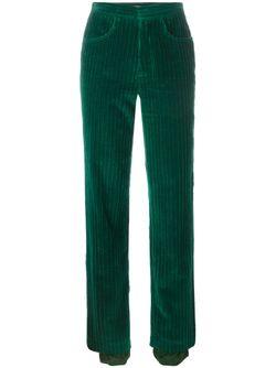 Вельветовые Брюки Ski J.W. Anderson                                                                                                              зелёный цвет