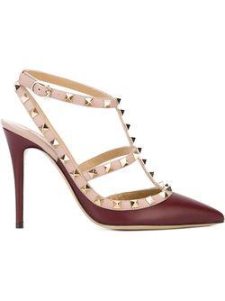 Туфли Rockstud Valentino Garavani                                                                                                              красный цвет