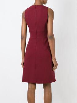 Платье Без Рукавов С Декоративными Пуговицами Michael Kors                                                                                                              красный цвет