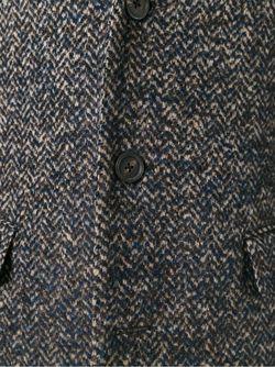 Пальто С Узором-Елочкой Lardini                                                                                                              коричневый цвет
