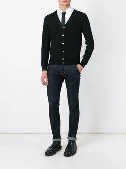 Кардиган С V-Образным Вырезом Zanone                                                                                                              черный цвет
