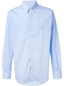 Полосатая Рубашка С Воротником На Пуговицах Etro                                                                                                              синий цвет