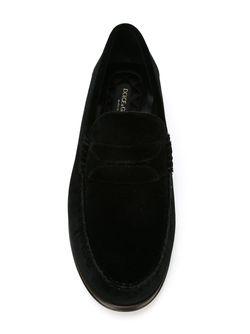 Velvet Penny Loafers Dolce & Gabbana                                                                                                              черный цвет