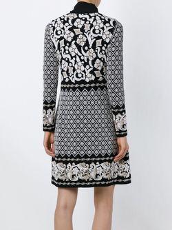 Платье С Узором В Стиле Барокко Alberta Ferretti                                                                                                              черный цвет