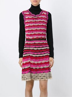 Полосатое Платье С Фестонами Missoni                                                                                                              многоцветный цвет