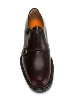 Классические Туфли-Монки Santoni                                                                                                              коричневый цвет