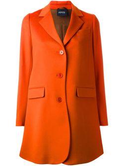 Классическое Однобортное Пальто Aspesi                                                                                                              желтый цвет