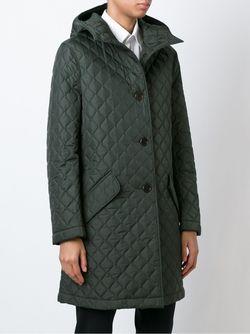 Стеганое Пальто Cipollina С Капюшоном Aspesi                                                                                                              зелёный цвет