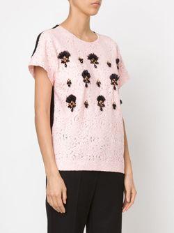 Декорированный Кружевной Топ No21                                                                                                              розовый цвет