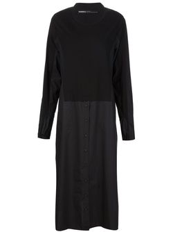Длинное Платье-Рубашка С Панельным Дизайном Rundholz                                                                                                              чёрный цвет