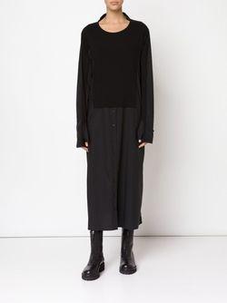 Длинное Платье-Рубашка С Панельным Дизайном Rundholz                                                                                                              черный цвет