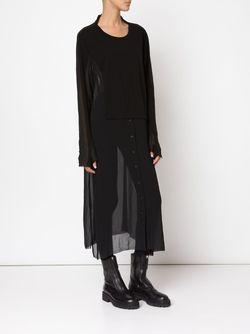 Прозрачное Платье-Рубашка Rundholz                                                                                                              черный цвет
