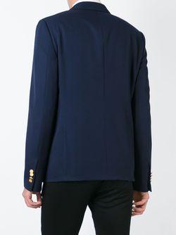 Классический Пиджак С Застежкой На Золотистые Пуговицы Valentino                                                                                                              синий цвет