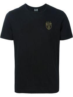 Футболка С Принтом Логотипа EA7 EMPORIO ARMANI                                                                                                              чёрный цвет