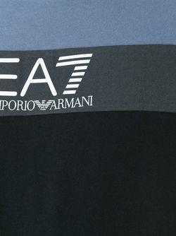 Футболка Колор-Блок EA7 EMPORIO ARMANI                                                                                                              чёрный цвет