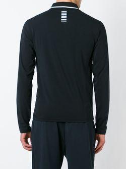 Рубашка-Поло С Принтом Логотипа EA7 EMPORIO ARMANI                                                                                                              черный цвет