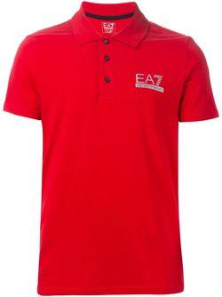 Футболка-Поло С Вышивкой Логотипа EA7 EMPORIO ARMANI                                                                                                              красный цвет