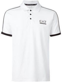 Футболка-Поло С Принтом Логотипа EA7 EMPORIO ARMANI                                                                                                              красный цвет