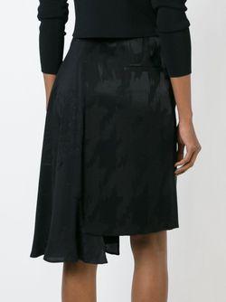 Драпированная Юбка Асимметричного Кроя Maison Margiela                                                                                                              черный цвет