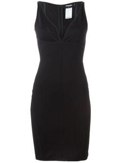 Платье С Глубоким V-Образным Вырезом Dsquared2                                                                                                              чёрный цвет