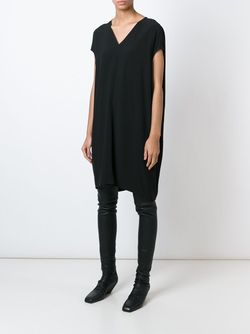 Платье С V-Образным Вырезом Floating Rick Owens                                                                                                              черный цвет