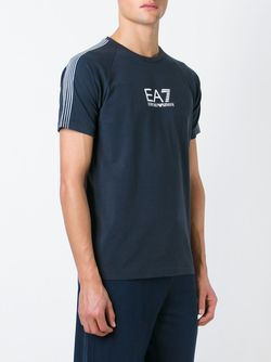 Футболка С Принтом Логотипа Emporio Armani                                                                                                              синий цвет