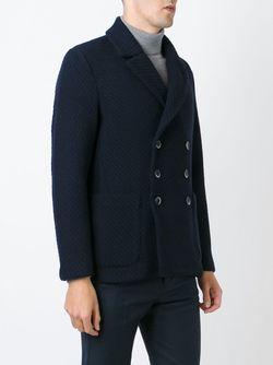 Двубортное Пальто Barena                                                                                                              синий цвет