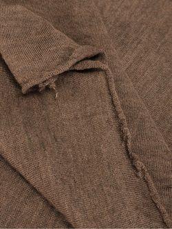 Широкий Трикотажный Шарф Faliero Sarti                                                                                                              коричневый цвет
